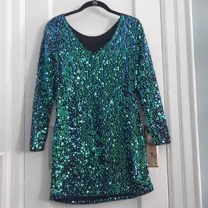 Holiday Sequin Mini Dress